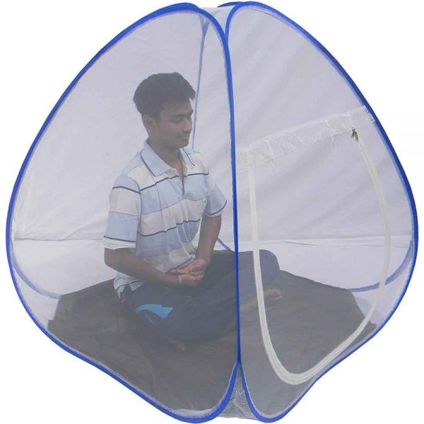 Homecute Polyester Adults Single Person Meditation Yoga Cum Child Outdoor Camping Tent Pop up Mosquito Net