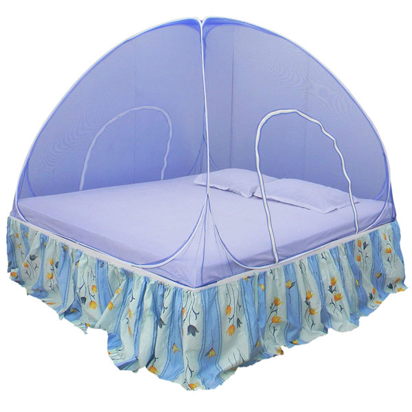 Home cute Foldable Polyester One Colour Simple Double Bed Mosquito Net