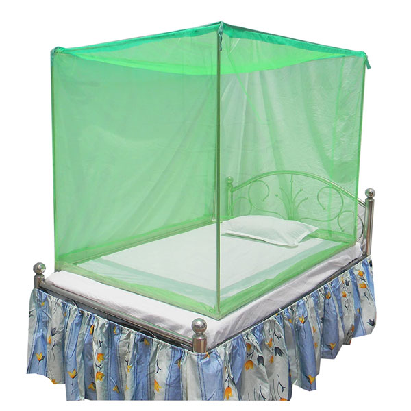 HOMECUTE Polyester Single Bed Cotton Edge Traditional Mosquito Net